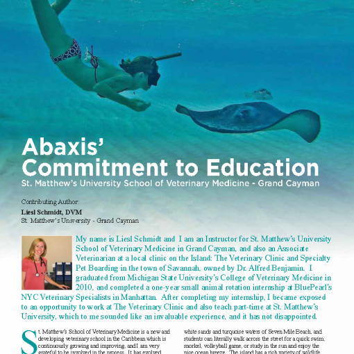 Abaxis' Commitment to Education